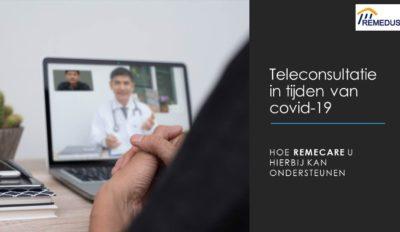 Opvolgen van patiënten op afstand via de RemeCare app.